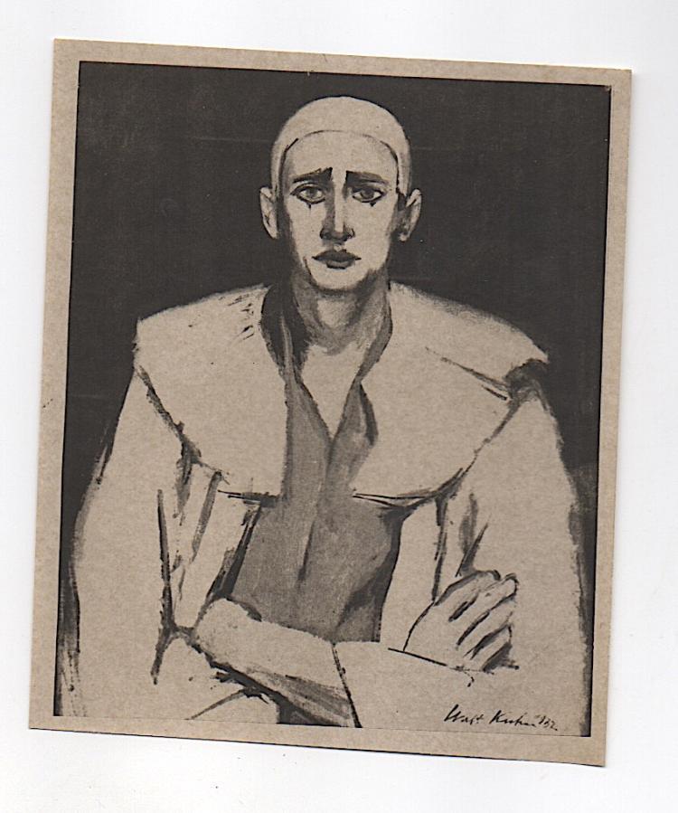 Photo of Clown Walt Kuhn Painting