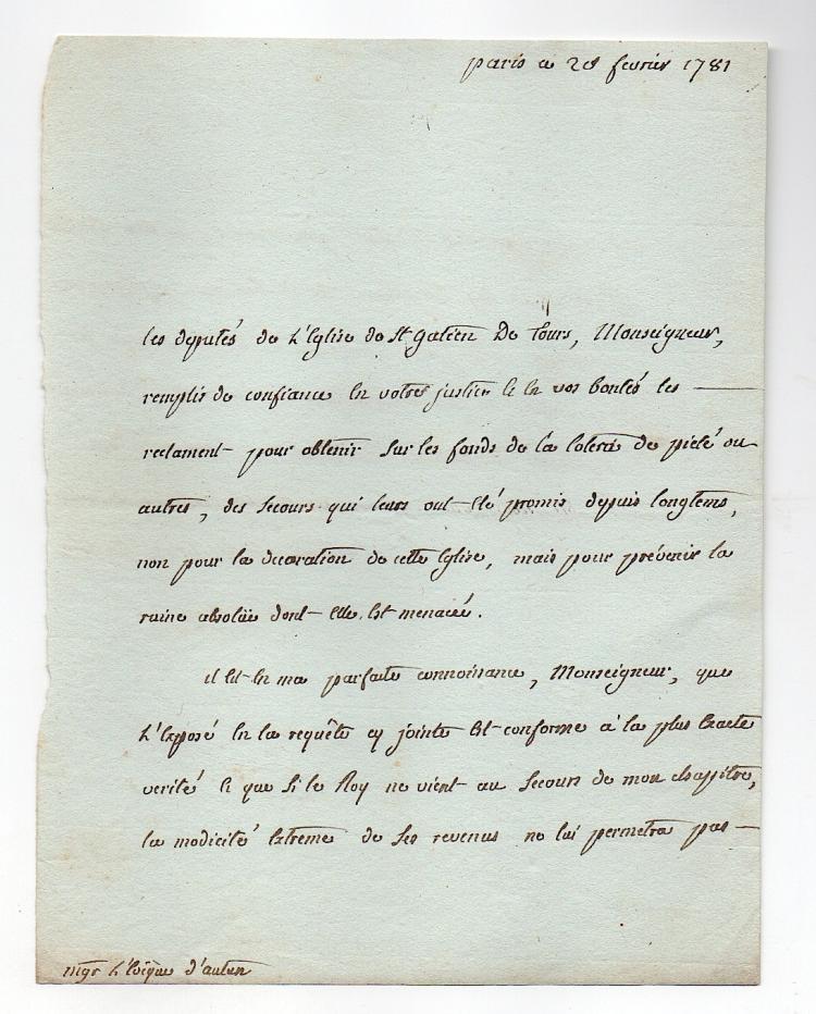 de Conzie (1738-1795) Archbishop of Tours, France