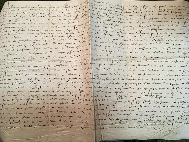 [FRANCE] Reign of Charles IX 1572 document
