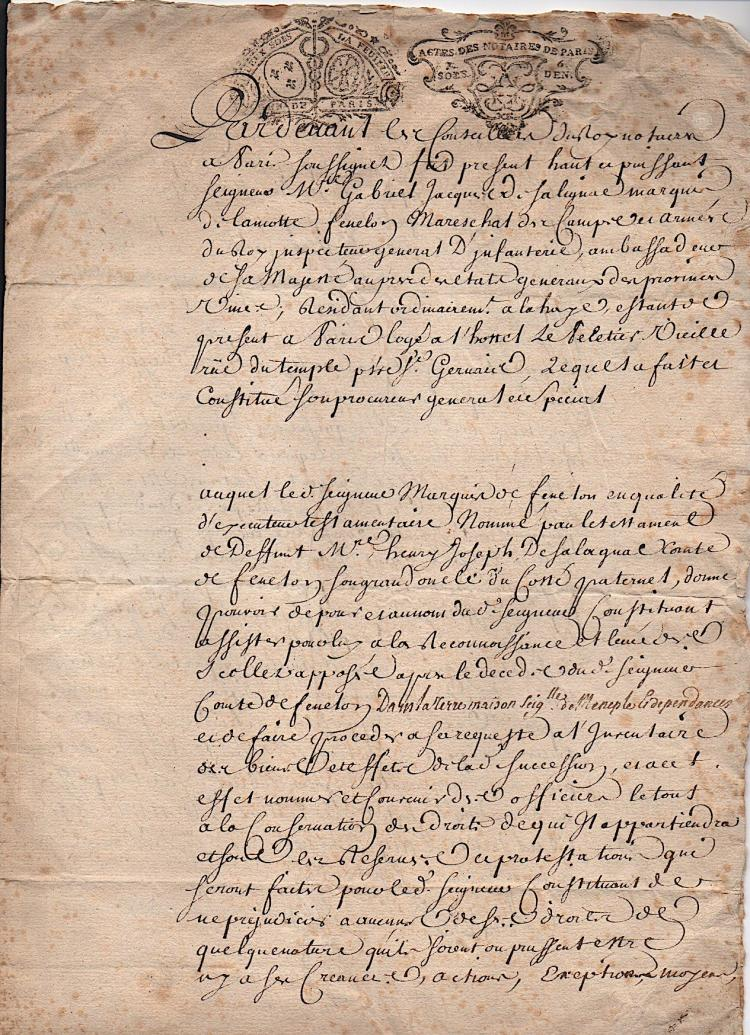 Rare French Document