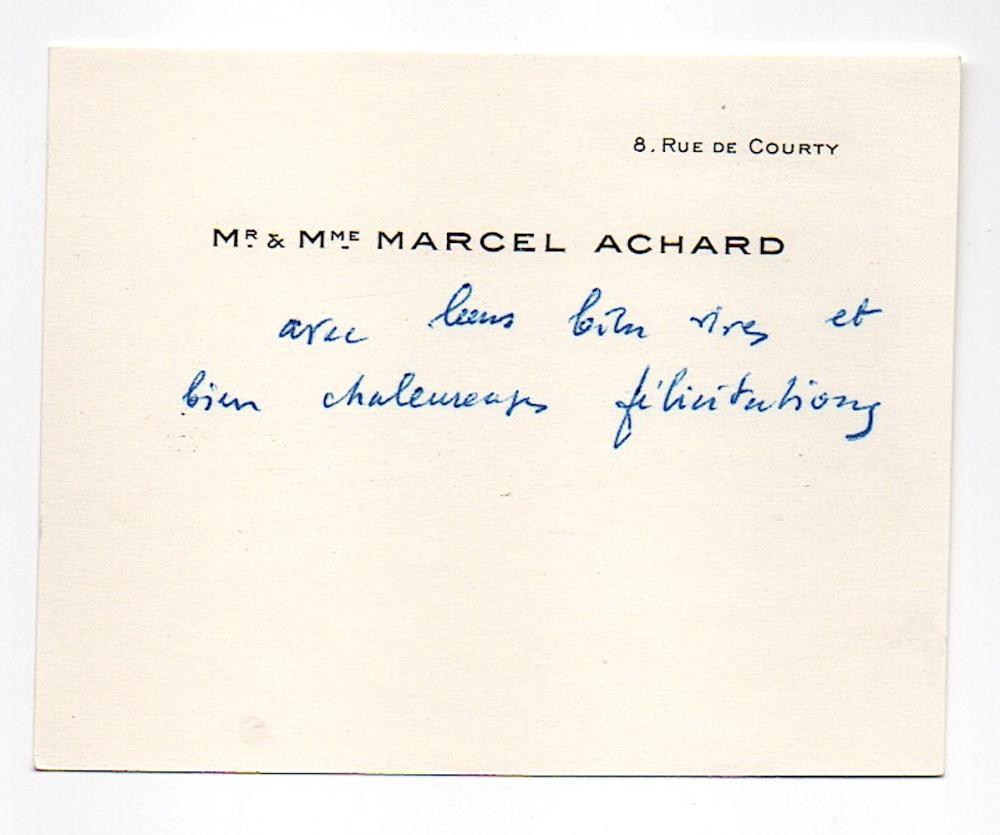Marcel Achard (1899-1974) French playwright and screenwriter
