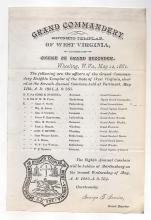 Knights of Templar, Wheeling, West Virginia, 1881