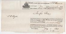 1835 BILL OF LADING  HAZARD GOODS SHIP PROVIDENCE TO NEW ORLEANS