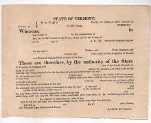 Vermont Imprisonment For Debt - 1820s