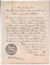 1881 Salem, Illinois Masonic document