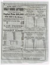 Rare Delaware Lottery Circular 1860