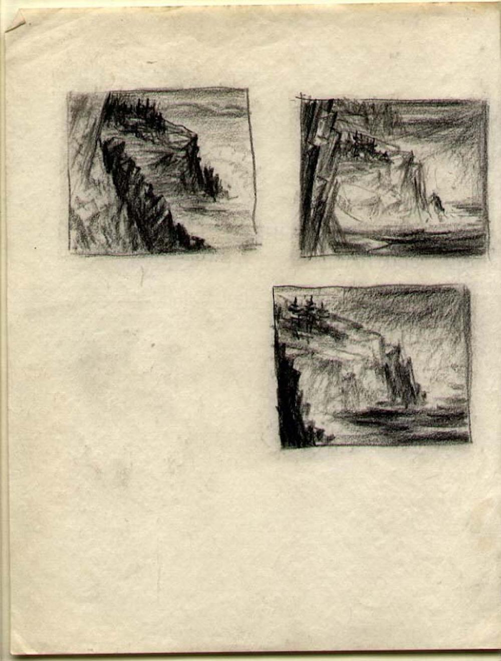 CARROLL THAYER BERRY 3 small drawings