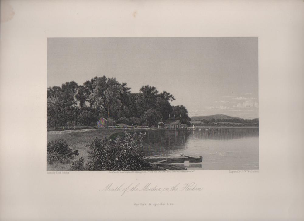 1870 ENGRAVING Mouth of the Moodna, on the Hudson