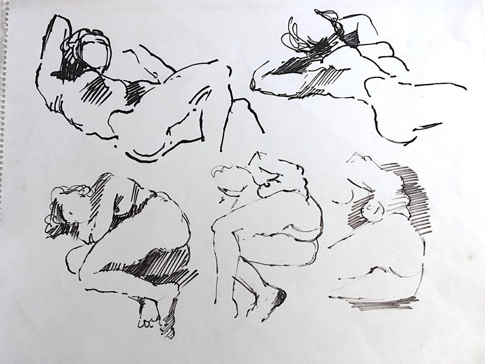 Salvatore Grippi (1921-2017) Female Nudes Drawing