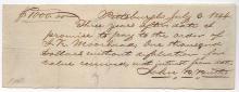 John B. Butler (1793-1870) US Army officer 1844 document