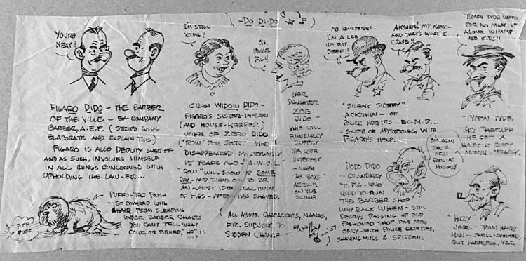 Wally Wallgren [1892-1948] Cartoon drawing