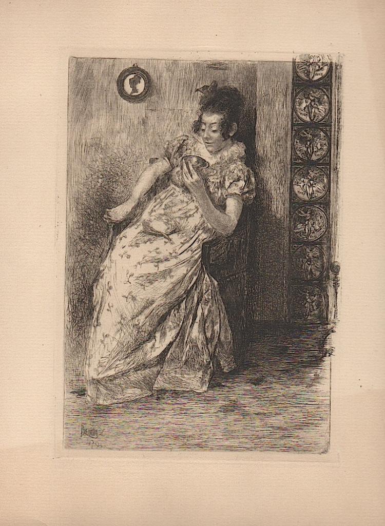 Alfred Brennan (1853-1921) etching