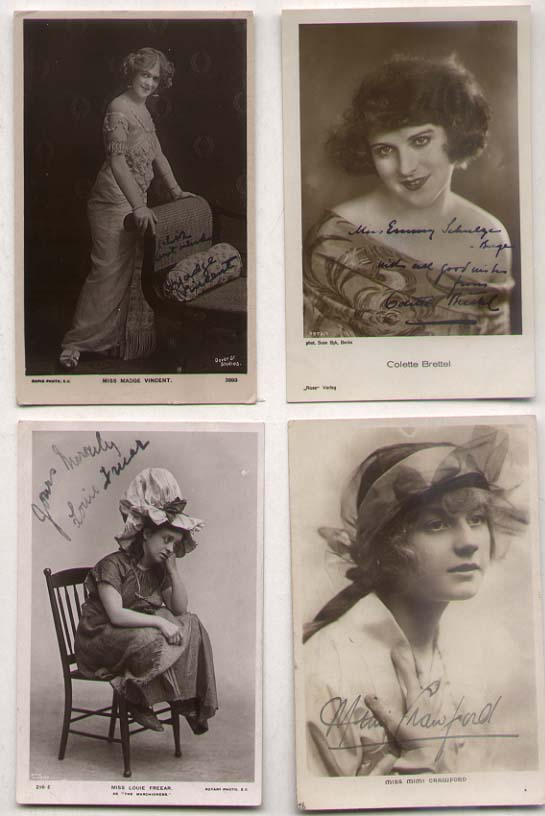 [British Theatre] Lot of 4 signed photos[British Theatr