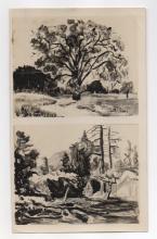 Photo of 2 Walt Kuhn Drawings