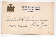 Herbert H. Lehman (1878-1963) Gov. of New York