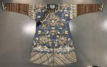 Chinese Silk Kesi Dragon Robe