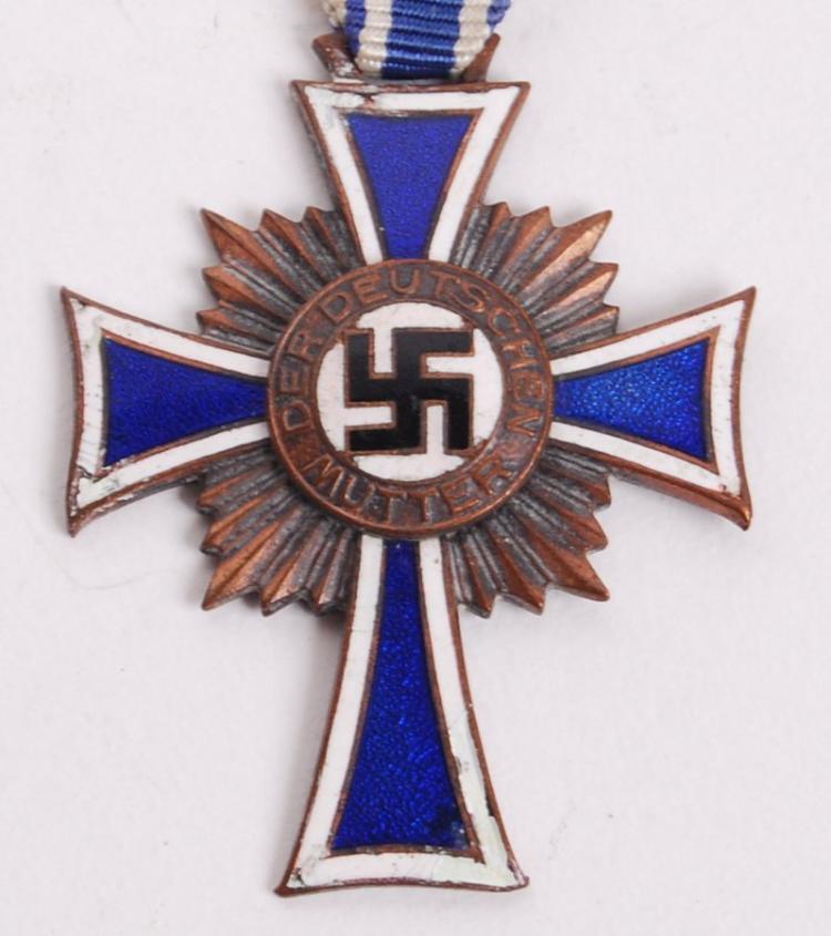 "UK p/&p. GERMAN Mothers Cross  Ribbon x 18/"" Inc"