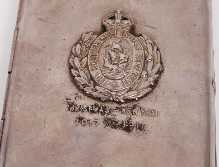 Wwi british west indies regiment cigarette case for Case in stile british west indies