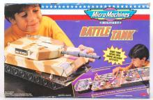RARE VINTAGE 1990'S GALOOB MICRO MACHINES PLAYSET ' BATTLE TANK '