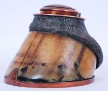 WWI TRENCH ART HORSE HOOF