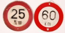 FRENCH SPEED LIMIT SIGNS
