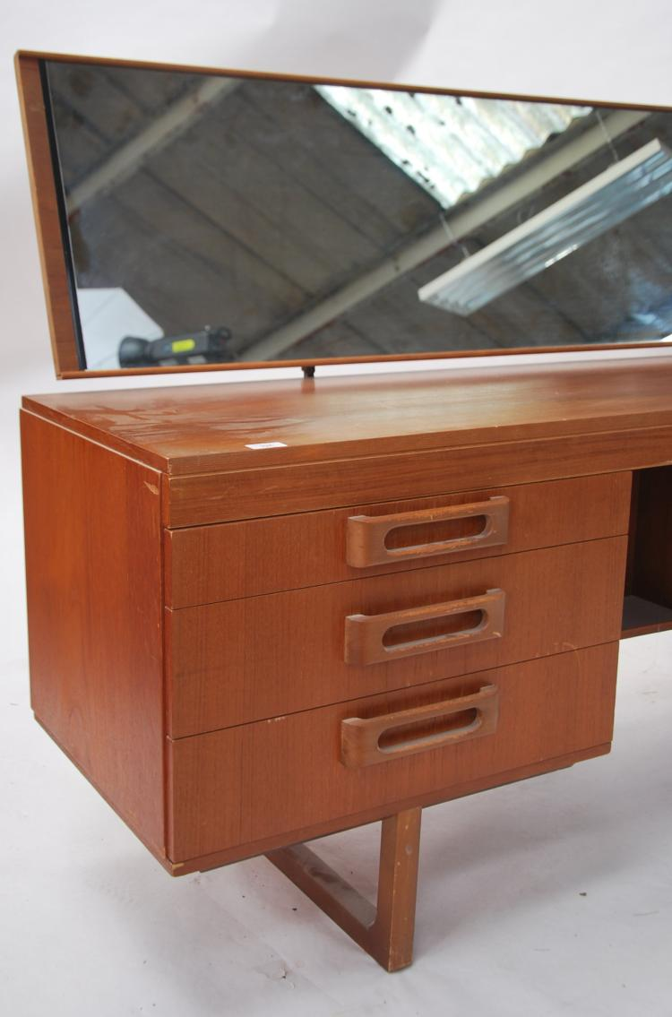 A 1970 39 s retro teak wood dressing table in the man for Retro dressing table