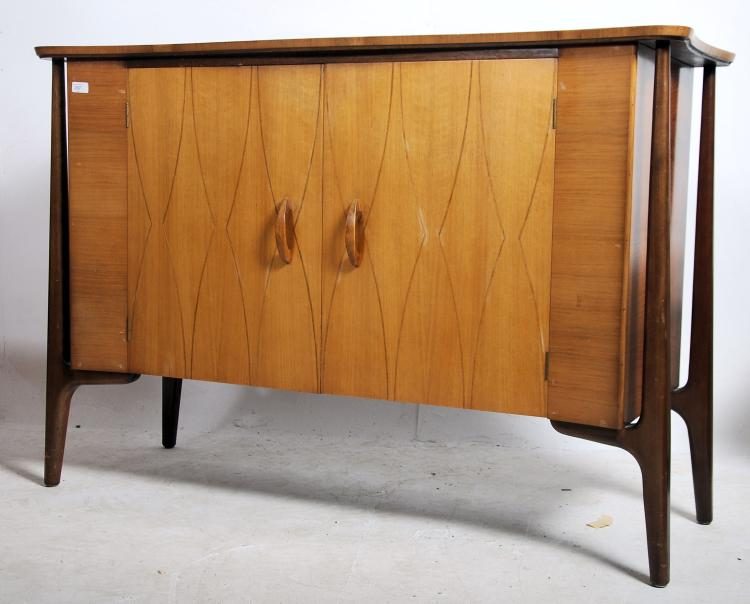 A 1950 39 s heals of london 39 helix 39 pattern sideboa for Furniture auctions london