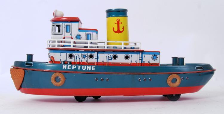 RARE 1950's TINPLATE TUG: A ra