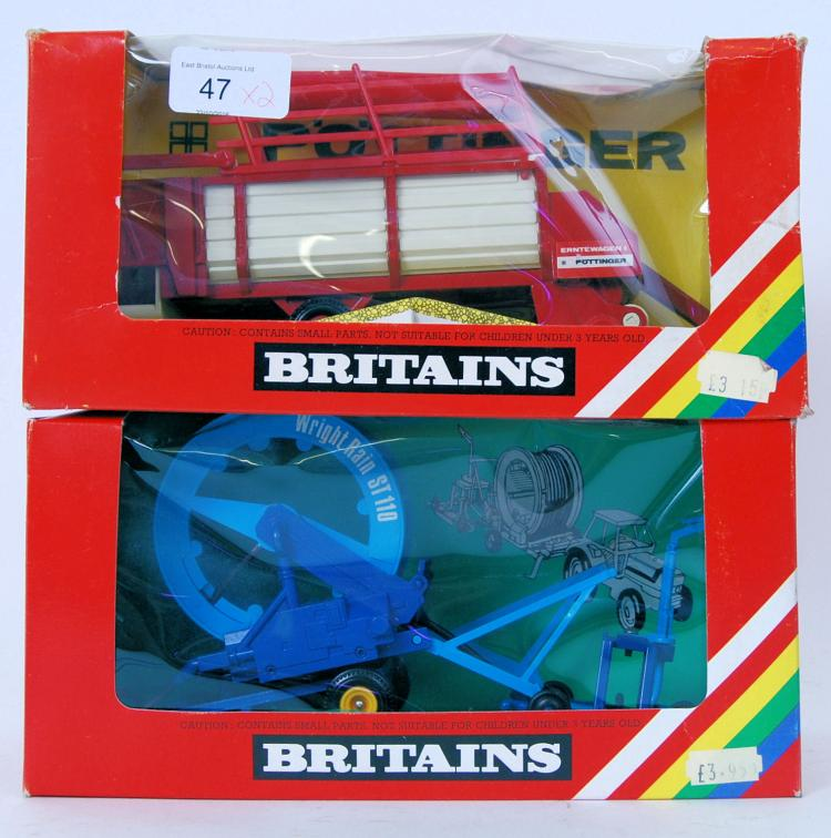 BRITAINS: 2x Britains farm rel