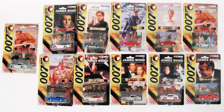 JAMES BOND: A collection of 11