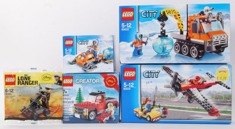 LEGO: A collection of 5x unuse