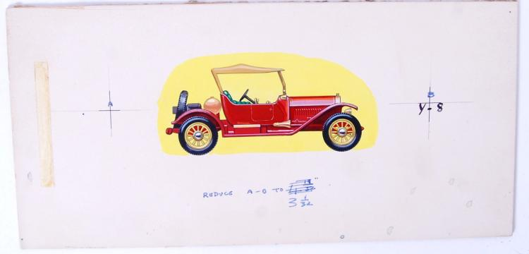 RARE MATCHBOX ARTWORK: An orig