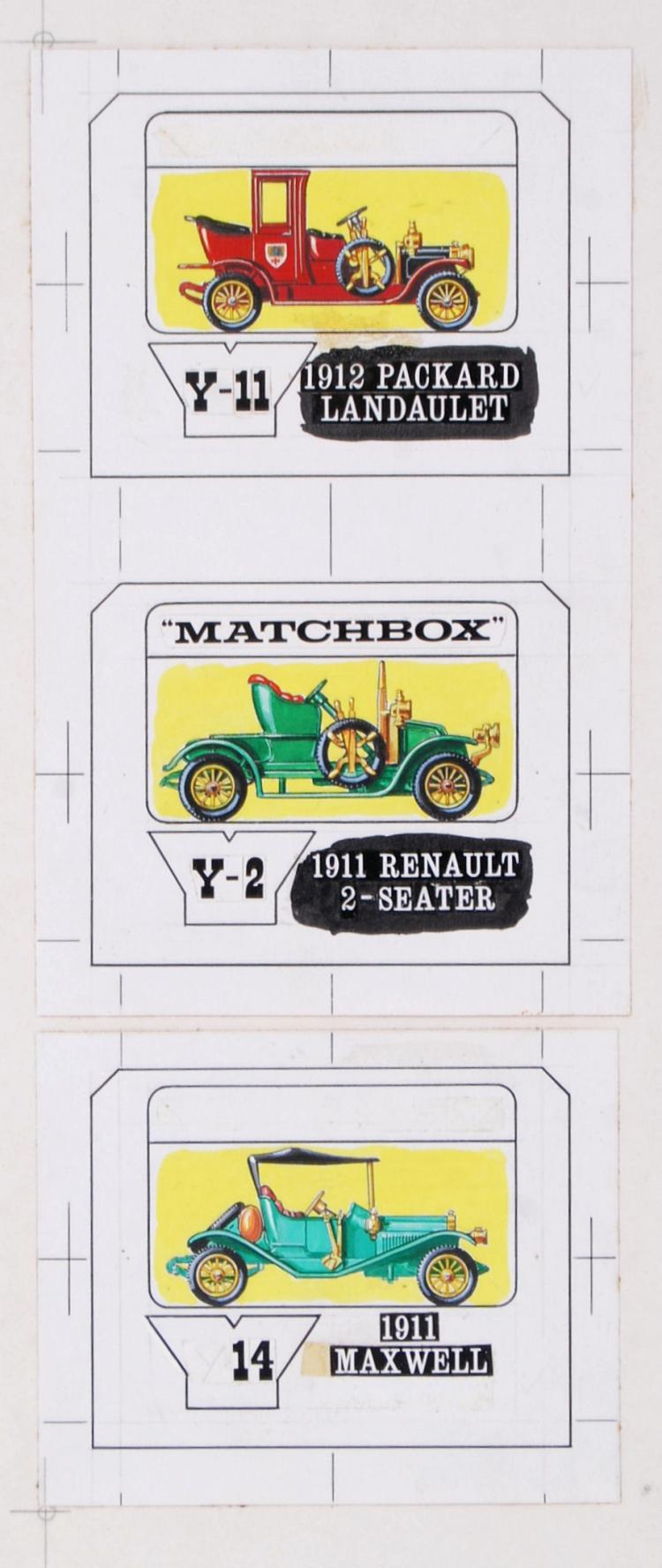 RARE MATCHBOX ARTWORK: A colle