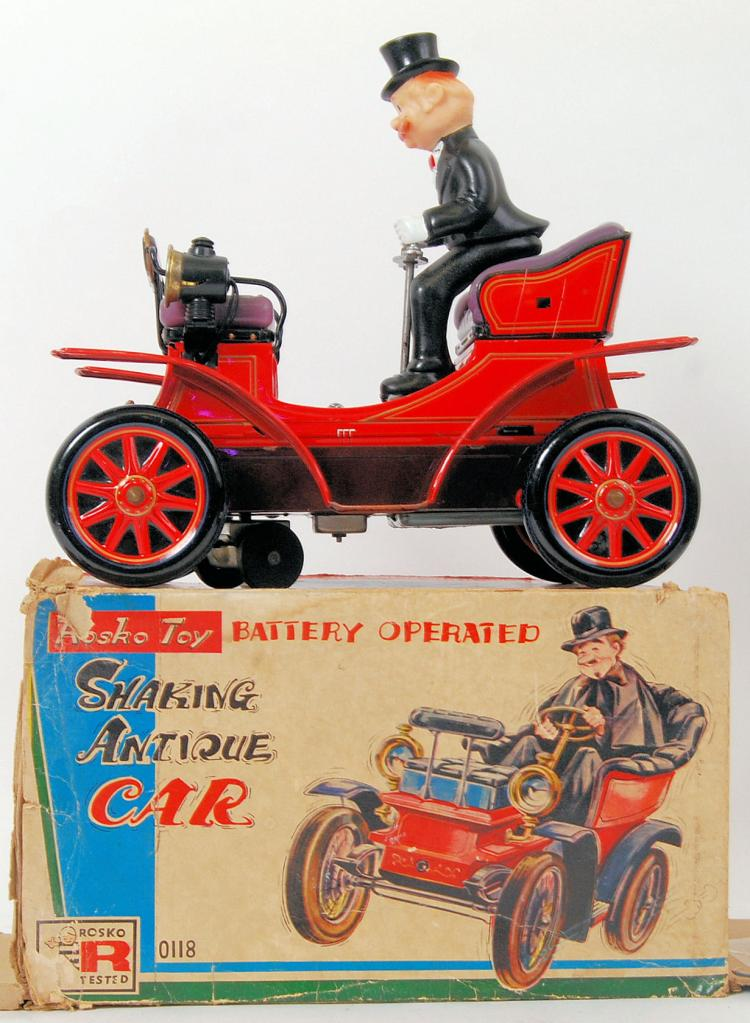 ANTIQUE TINPLATE CAR: An origi