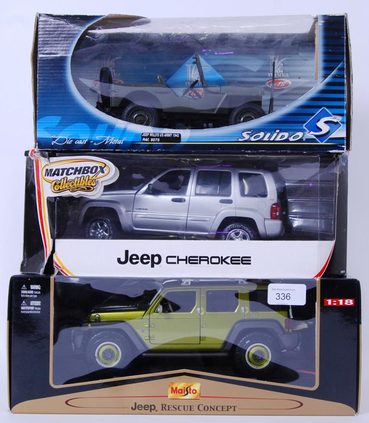 JEEPS: A collection of 3x 1:18