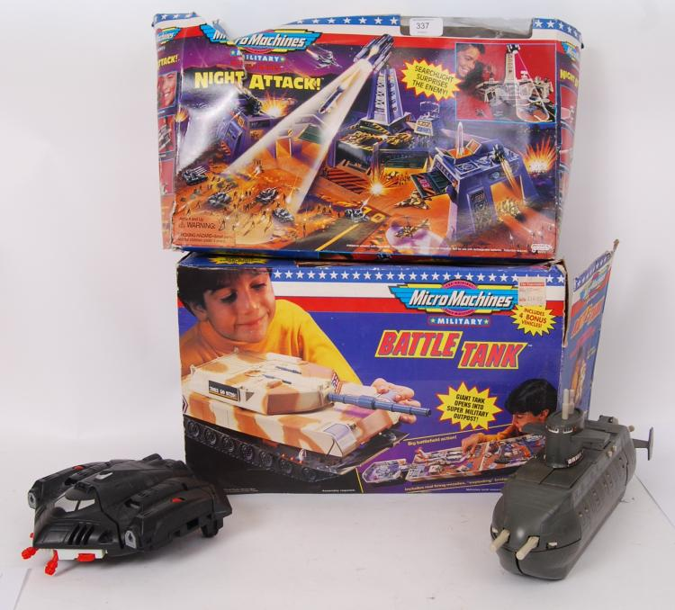 MICRO MACHINES: Two boxed Galo
