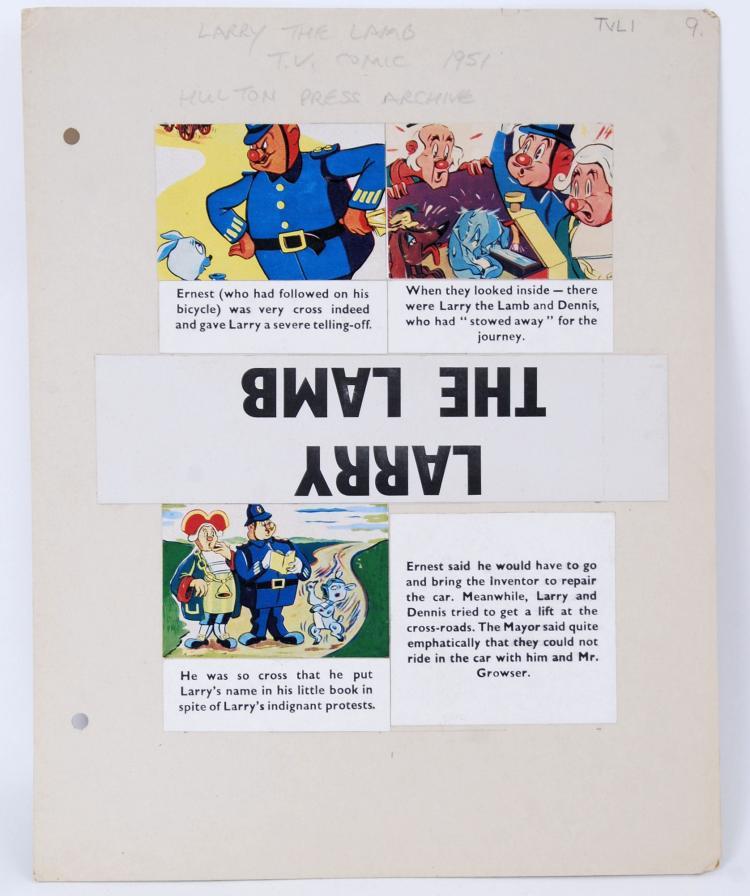 TV COMIC ORIGINAL ARTWORK: A r