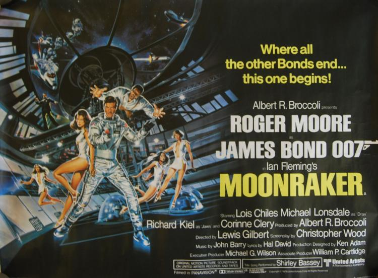 JAMES BOND MOONRAKER POSTER: A