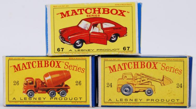 MATCHBOX; A collection of 3x v