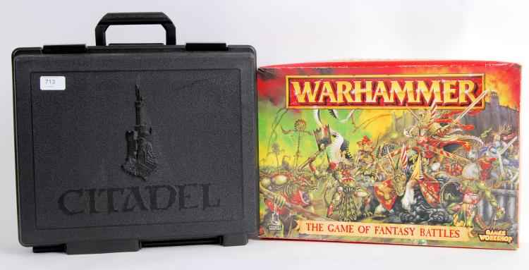 WARHAMMER: A plastic case of W