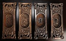 4 Victorian Egg & Dart and Lock Door Plates