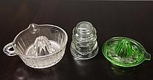 3 Antique Glass Items