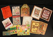Grouping of Antique & Linen Children's Books