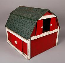 Antique Handmade Wood Toy Barn
