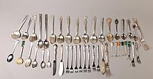 Grouping of Silver Plated Flatware