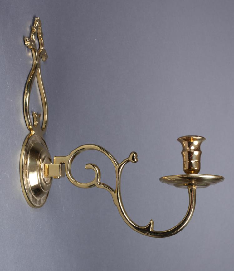 Pair of Williamsburg Brass Wall Sconces