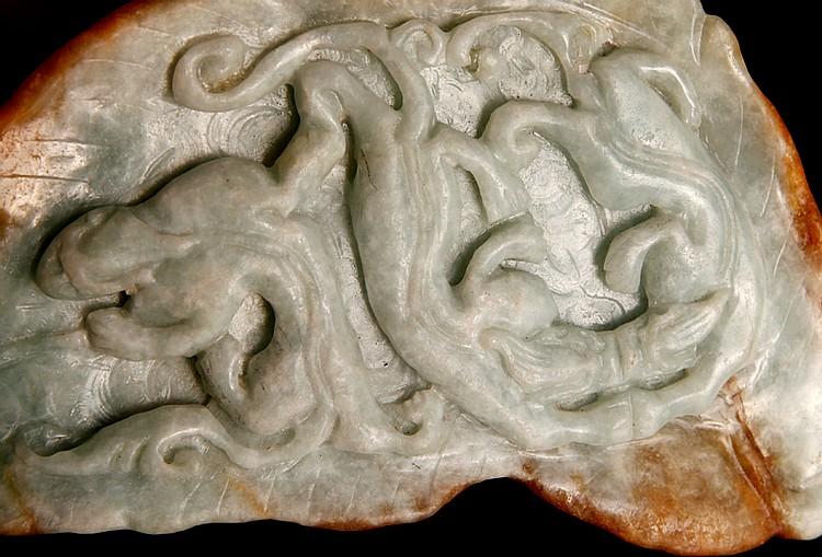 Chinese carved jadeite skin