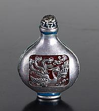 Chinese Silver & Enameled Snuff Bottle