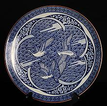 Japanese Blue & White Plate