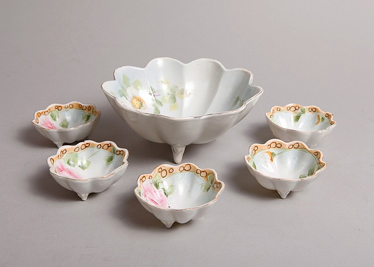 6 Nippon Nut Bowl & Dishes